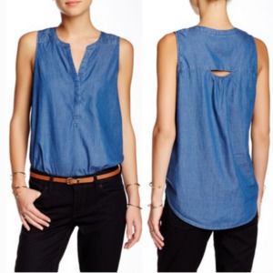 LUCKY BRAND | Summit Chambray Tank Top - XL